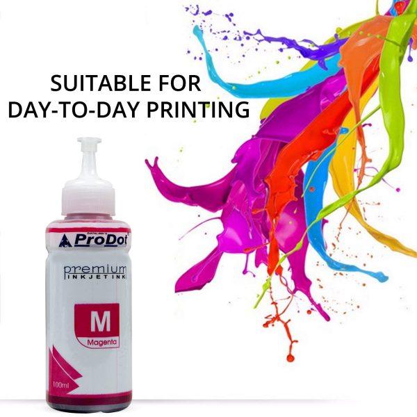 PRODOT INKJET INK FOR EPSON MAGENTA (RI-CISS-E11-DM) EPSON L130 / L380 / L220 / L210 / L405 / L485 / L805 (EPSON L, M, ME, K, R, T SERIES PRINTERS) Jaipur Rajasthan India 093yh