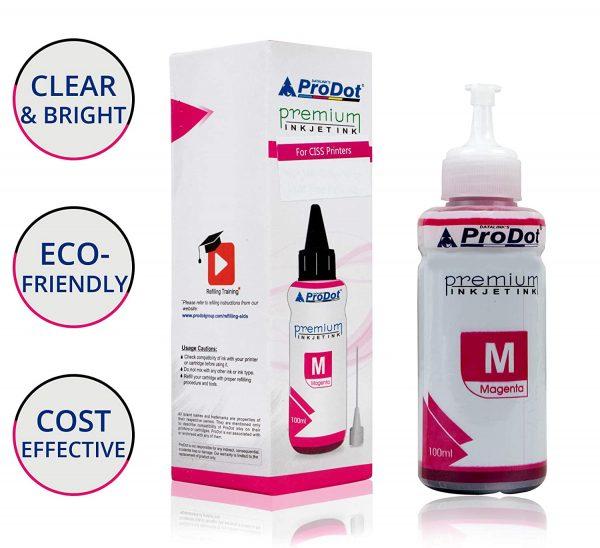 PRODOT INKJET INK FOR EPSON MAGENTA (RI-CISS-E11-DM) EPSON L130 / L380 / L220 / L210 / L405 / L485 / L805 (EPSON L, M, ME, K, R, T SERIES PRINTERS) Jaipur 0392iek