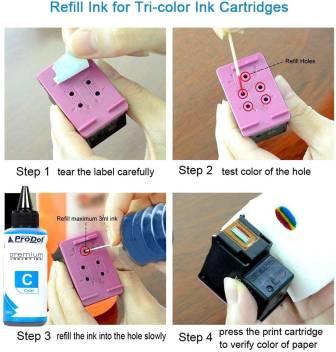 PRODOT INKJET INK FOR HP CYAN (RI-CART-H05-DC) / HP CART 22 / 46 / 57 / 678 / 680 / 703 / 704 / 802 / 803 / 818 Jaipur 9384urjf